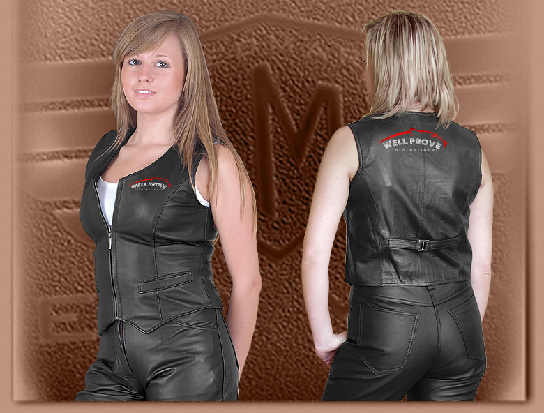 Motorbike Leather Vest Women